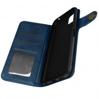 Sixties Style Klappetui, Hülle mit Geldbörse für Samsung A22 5G ? Dunkelblau
