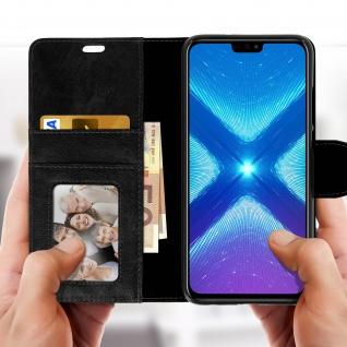 Flip Stand Cover Brieftasche & Standfunktion Huawei Honor 8X - Schwarz - Vorschau 3