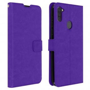 Flip Stand Case Brieftasche & Standfunktion für Galaxy A11 - Violett