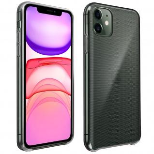 Halbsteife durchsichtige Silikon Handyhülle Apple iPhone 11 - Schwarz