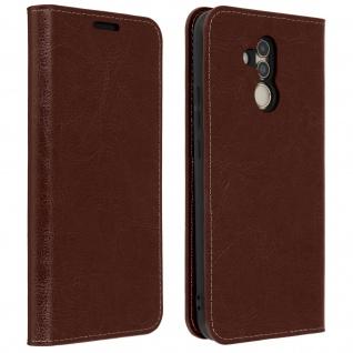 Huawei Mate 20 Lite Flip-Cover aus Echtleder im Brieftaschenstil - Braun