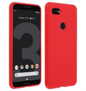 Schutzhülle für Google Pixel 3, ultradünne & gummierte Gelhülle - Rot