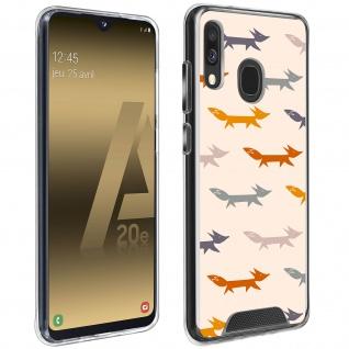 Stoßfeste Handyhülle für Samsung Galaxy A20e, Made in France ? Füchse Design