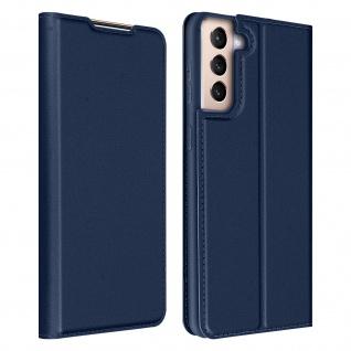 Klappetui mit Kartenfach & Standfunktion Samsung Galaxy S21 ? Dunkelblau