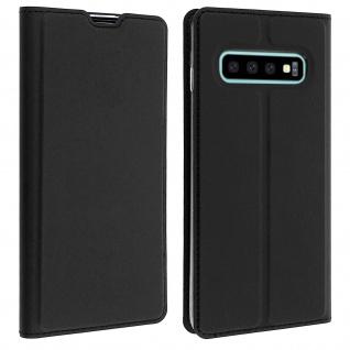 Flip Cover, Klappetui mit Kartenfach & Standfunktion Samsung Galaxy S10 Schwarz