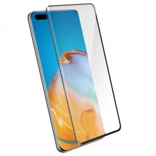 4Smarts - Schutzfolie Second Glass für Huawei P40 - Rand Schwarz
