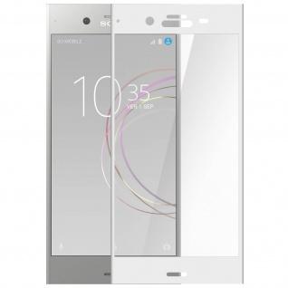 Displayschutzfolie aus Glas für Sony Xperia XZ1, bruchsicher & kratzfest ? Weiß
