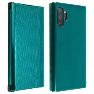Hald-durchsichtige Klapphülle mit Chrom Design für Galaxy Note 10 Plus - Grün