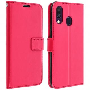 Flip Stand Cover Brieftasche & Standfunktion für Samsung Galaxy A40 - Rosa