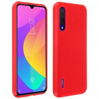 Halbsteife Silikon Handyhülle Xiaomi Mi 9 Lite, Soft Touch - Rot