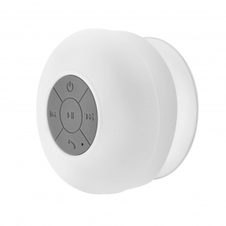 Bluetooth-Lautsprecherbox ohne Kabel wasserfest weiß Saugnapf Befestigung