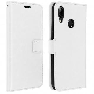 Flip Cover Stand Case Brieftasche & Standfunktion für Huawei P20 Lite - Weiß