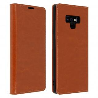 Business Leder Cover, Schutzhülle mit Geldbörse für Galaxy Note 9 - Kupfer