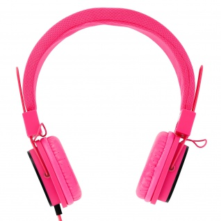 eXtra-Bass On-ear Kopfhörer mit Mikrofon und Freisprechanlage - Rosa