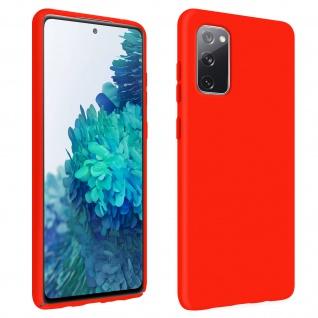 Halbsteife Silikon Handyhülle für Samsung Galaxy S20 FE, Soft Touch - Rot