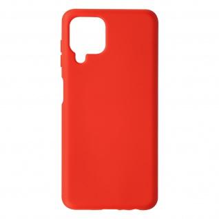 Halbsteife Silikon Handyhülle für Samsung Galaxy A22, Soft Touch ? Rot
