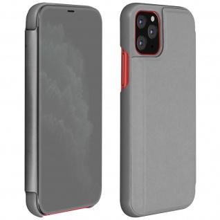 Apple iPhone 11 Pro Flip Cover mit Spiegeleffekt & Standfunktion - Silber