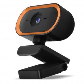 PC / Computer 2K 1440P USB-Webcam mit Mikrofon, Stativ ? Orange