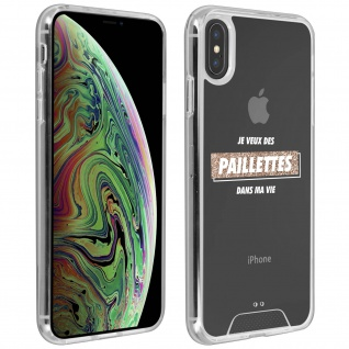 """Handyhülle für Apple iPhone XS Max, Made in France ? """" Paillettes"""" Design"""