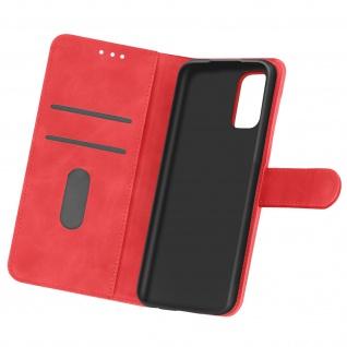 Flip Cover Geldbörse, Etui Kunstleder für Oppo Find X3 Lite ? Rot