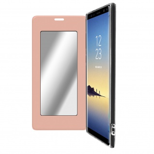 Spiegel Hülle, dünne Klapphülle für Samsung Galaxy Note 8 - Rosegold