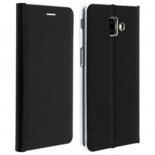 Samsung Galaxy J6 Plus Flip Cover mit Kartenschlitz & Standfunktion - Schwarz