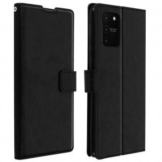 Flip Stand Case Brieftasche & Standfunktion für Galaxy S10 Lite ? Schwarz