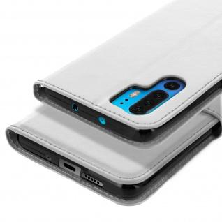 Flip Stand Cover Brieftasche & Standfunktion für Huawei P30 Pro - Weiß - Vorschau 5
