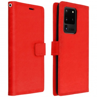 Flip Cover Stand Case Brieftasche & Standfunktion Samsung Galaxy S20 Ultra - Rot