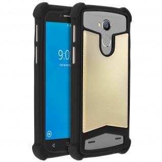 Universal Schutzhülle aus Silikon für Smartphones 4.7'' bis 5'' - Schwarz/Gold