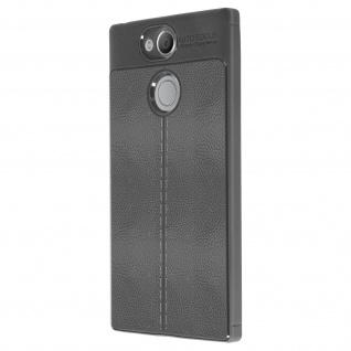 Silikon Schutzhülle aus Kunstleder stoß- kratzfest für Sony Xperia XA2 - Grau - Vorschau 3