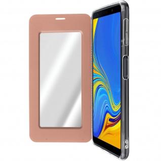 Spiegel Hülle, dünne Klapphülle für Samsung Galaxy A7 2018 - Rosegold