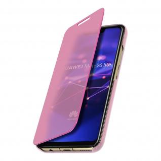 Huawei Mate 20 Lite Flip Cover mit Spiegeleffekt & Standfunktion - Rosa