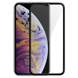 Displayschutzfolie aus gehärtetem Glas für iPhone XS Max, 0.33mm Folie - Schwarz