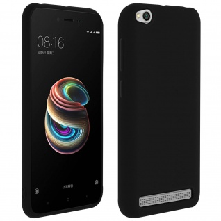 Forcell Xiaomi Redmi 5A Soft Touch Silikonhülle, soft case - Schwarz