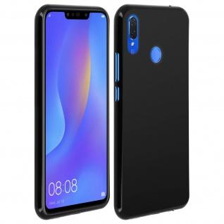 Gelhülle, flexibles Backcover für Huawei P Smart Plus, frosted case - Schwarz