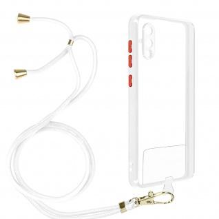 Handykette Handyhülle mit Halsband für Samsung Galaxy A02 ? Transparent