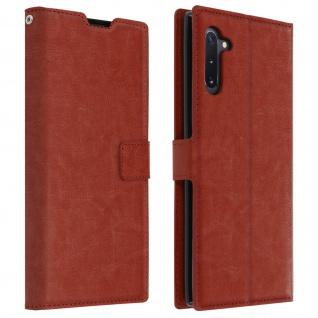 Flip Cover Stand Case Brieftasche & Standfunktion für Galaxy Note 10 - Braun