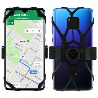 Fahrrad/Motorrad Smartphone 360° drehbare Lenkerhalterung ? Schwarz
