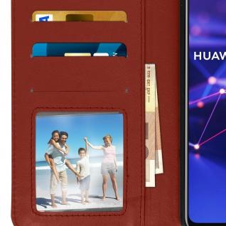 Flip Stand Cover Brieftasche & Standfunktion Huawei Mate 20 lite - Braun - Vorschau 5
