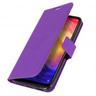 Flip Stand Cover Brieftasche & Standfunktion für Xiaomi Redmi 7 - Violett - Vorschau 2