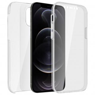 Schutzhülle für Apple iPhone 12 Pro Max, Vorder- + Rückseite ? Transparent