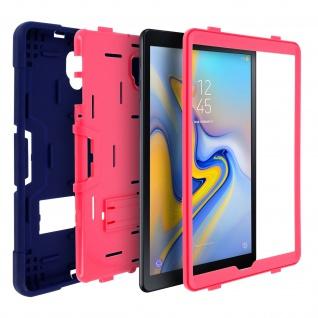 Samsung Galaxy Tab A 10.5 silikon stoßfeste Schutzhülle ? Dunkelblau / Rosa