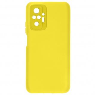 Halbsteife Silikon Handyhülle für Xiaomi Redmi Note 10 Pro, Soft Touch ? Gelb