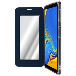 Spiegel Hülle, dünne Klapphülle für Samsung Galaxy A7 2018 - Dunkelblau