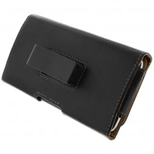 360° Tasche mit Clip für Smartphones: max. Abmessungen von 148x154mm - Schwarz