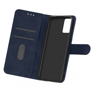 Flip Cover Geldbörse, Etui Kunstleder für Samsung Galaxy A32 ? Dunkelblau