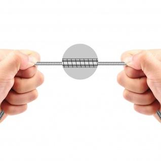 Micro-USB / USB-Ladekabel Aluminium, Aufladen & Synchronisation 1m - Silber - Vorschau 5