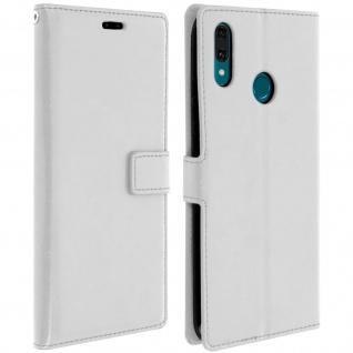 Flip Stand Cover Brieftasche & Standfunktion für Huawei Y9 2019 - Weiß