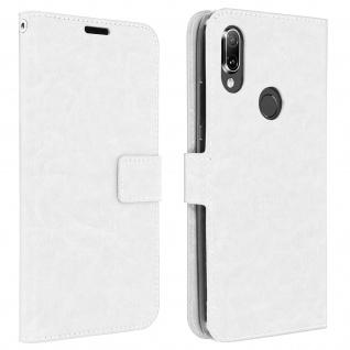 Flip Stand Cover Brieftasche & Standfunktion für Xiaomi Redmi 7 - Weiß